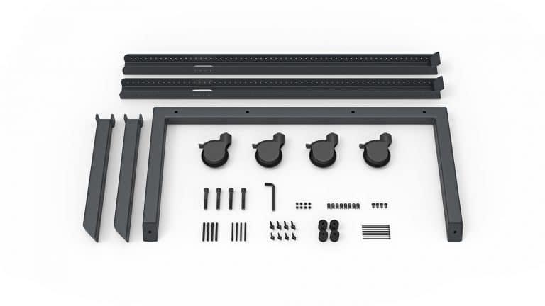 Heckler Design Single AV Cart Image of Package Contents