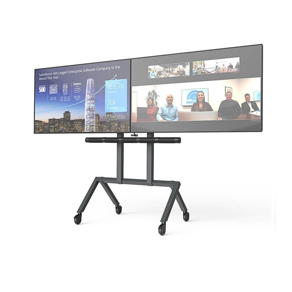 Heckler Design Video Conference Room Dual Screen AV Cart