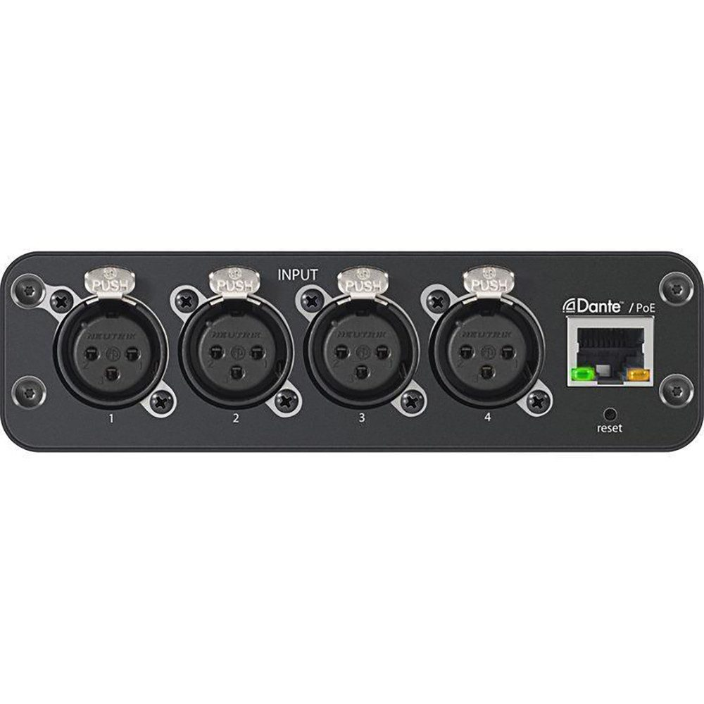 Shure ANI4IN-XLR Audio Network Interface backplane