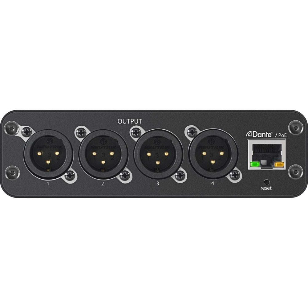 Shure ANI4OUT-XLR Audio Network Interface backplane