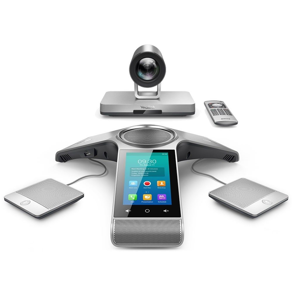 Yealink VC800 is an affordable multi-point full HD 1080p video conferencing system that is capable of doing cloud conferencing with GoToMeeting, Zoom, and Skype for Business.
