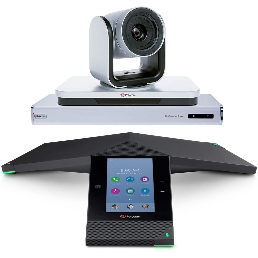 polycom trio group bundle front zoom