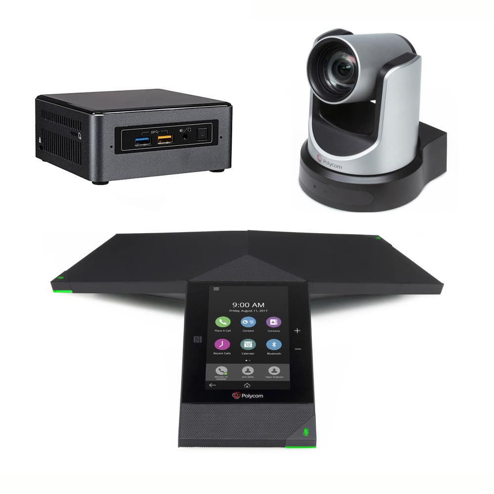 Zoom Rooms Kit - Polycom Trio 8800 + EagleEye IV USB Camera + Intel NUC