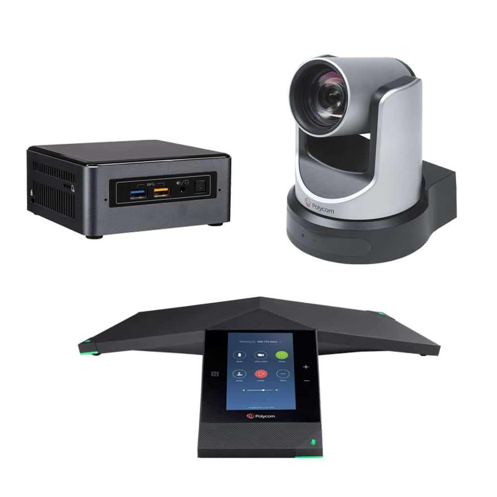 Zoom Rooms Kit - Polycom Trio 8800 + EagleEye IV USB Camera & Intel NUC