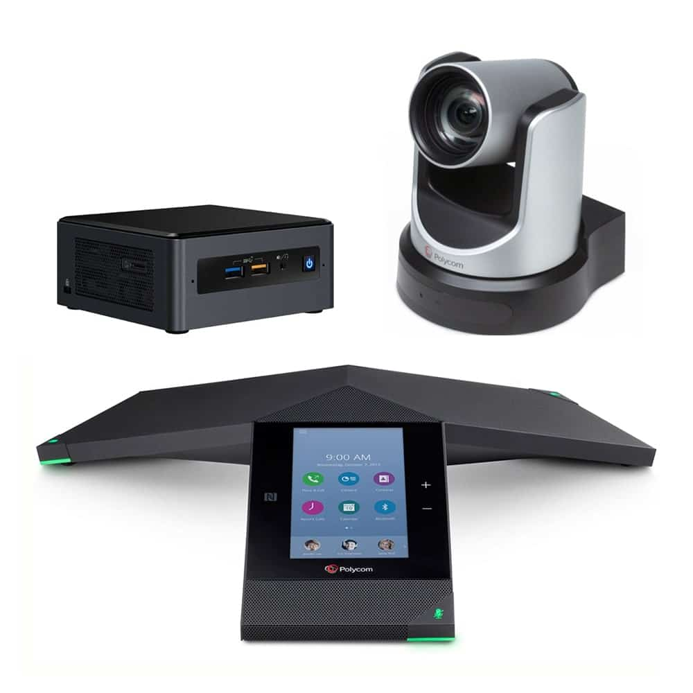 Zoom Rooms Kit - Polycom Trio 8800 + EagleEye IV USB Camera + Intel NUC Mini PC
