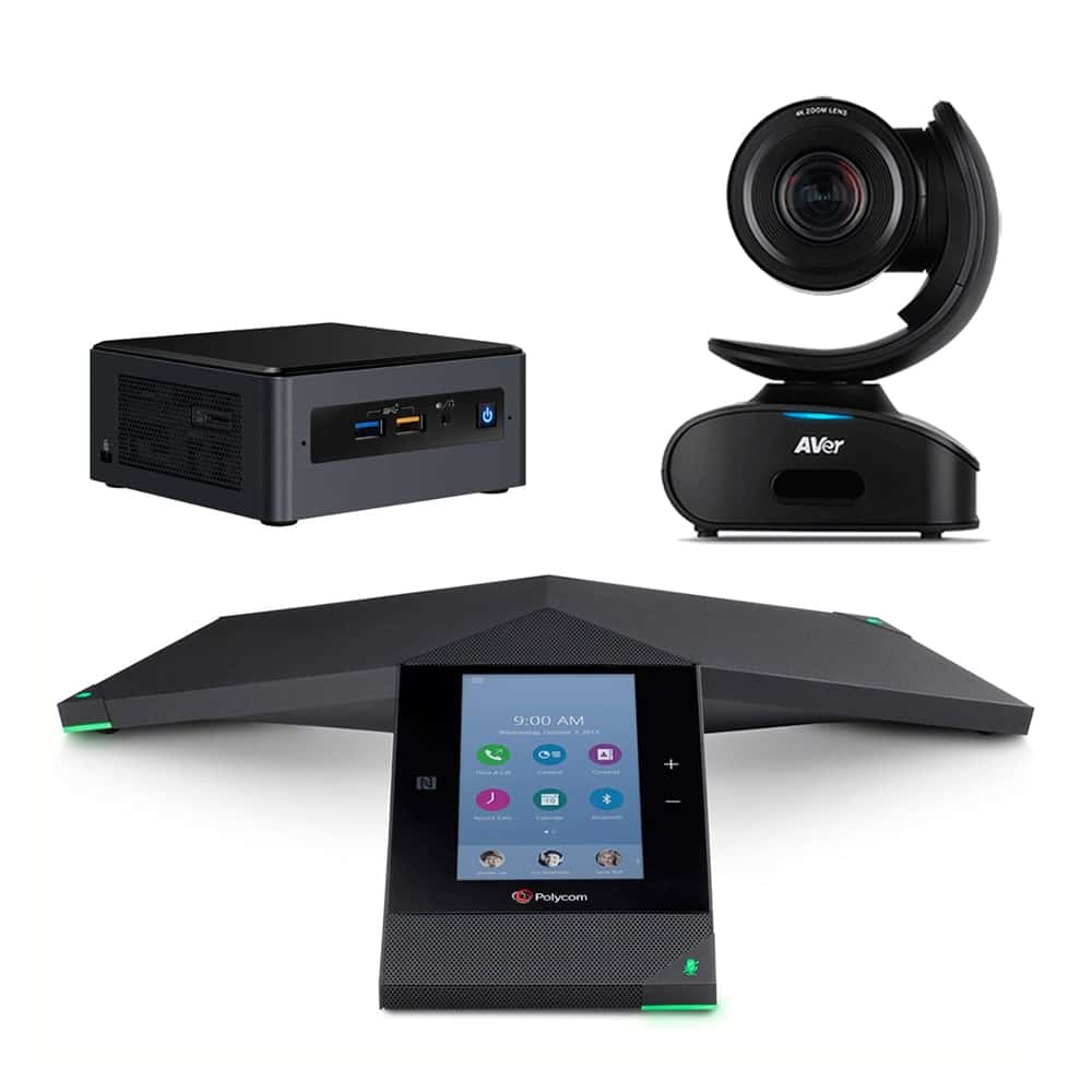 Zoom Rooms Kit - Polycom Trio 8800 + AVer CAM540 + Intel NUC Mini PC