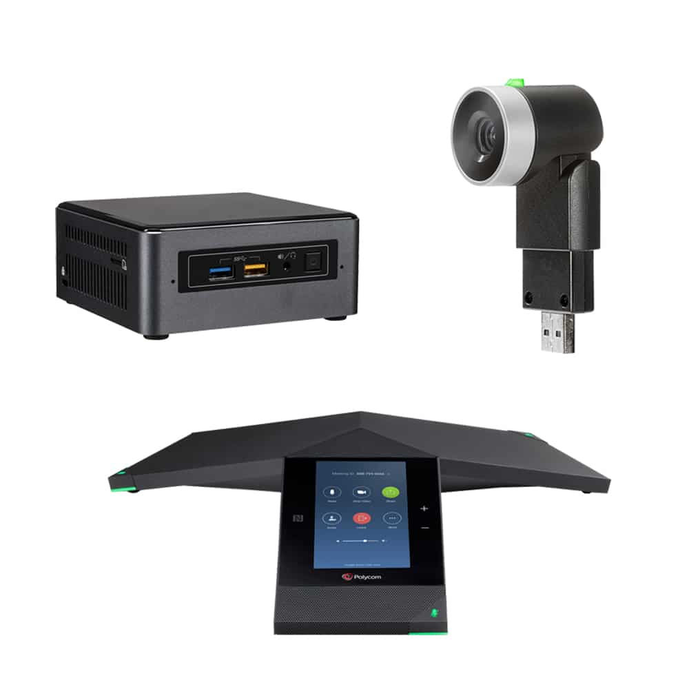 Zoom Rooms Kit - Polycom Trio + EagleEye Mini & Intel NUC
