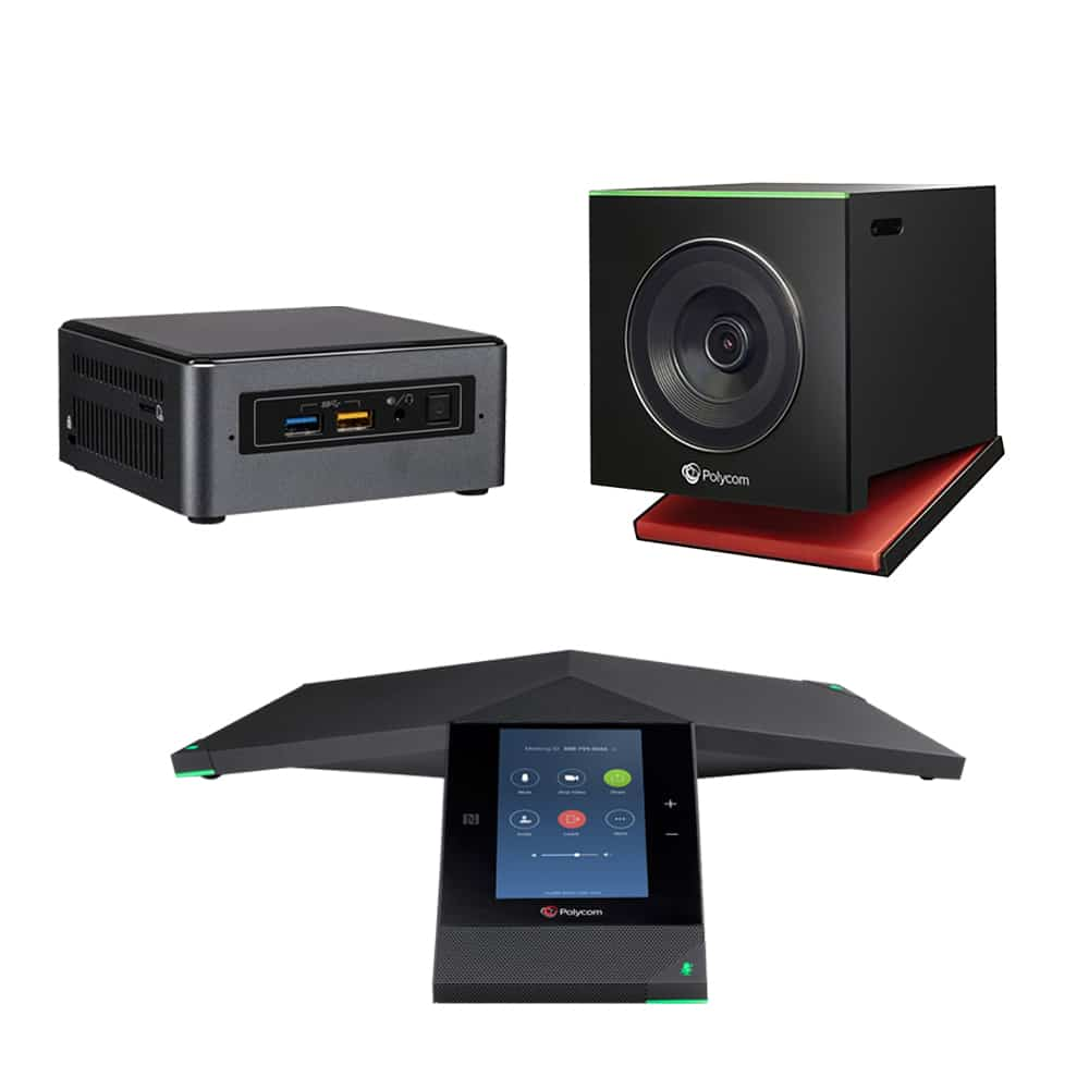 Zoom Rooms Kit - Polycom Trio + EagleEye Cube USB & Intel NUC